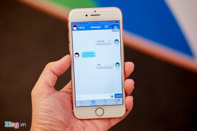 Phụ huynh có thể gửi tin nhắn đến đồng hồ của con cái thông qua ứng dụng.